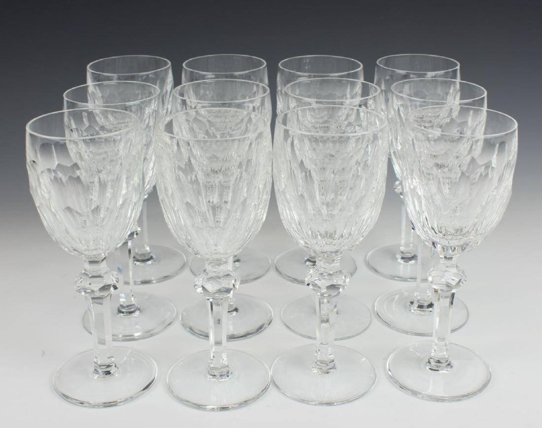 "12 WATERFORD ""CURRAGHMORE CUT"" CLARET WINE GLASSES"