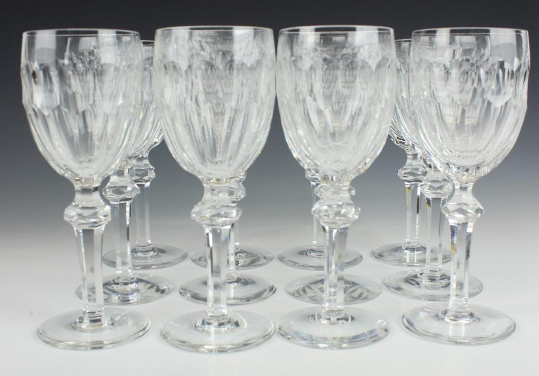 "12 WATERFORD ""CURRAGHMORE CUT"" CLARET WINE GLASSES - 2"