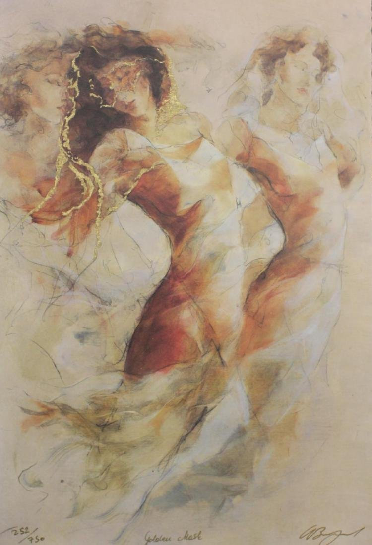 "GARY BENFIELD (UK b1965) ""GOLDEN MASK"" SERIGRAPH"