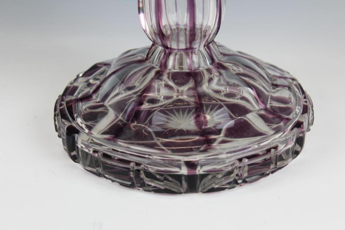 RARE AMETHYST WATERFORD CENTERPIECE BASE - 2