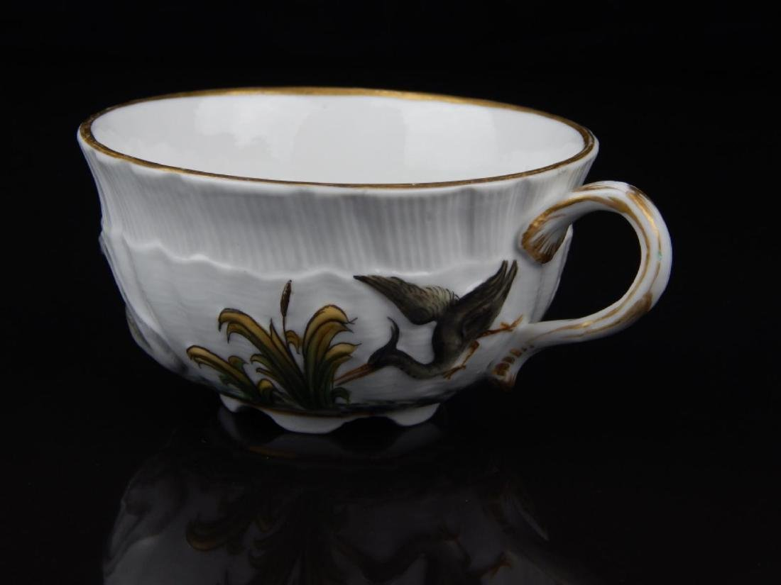 ANTIQUE MEISSEN SWAN TEA CUP AND SAUCER SET - 2