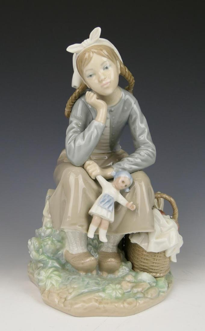 "LLADRO ""GIRL WITH DOLL"" PORCELAIN FIGURE 1211"