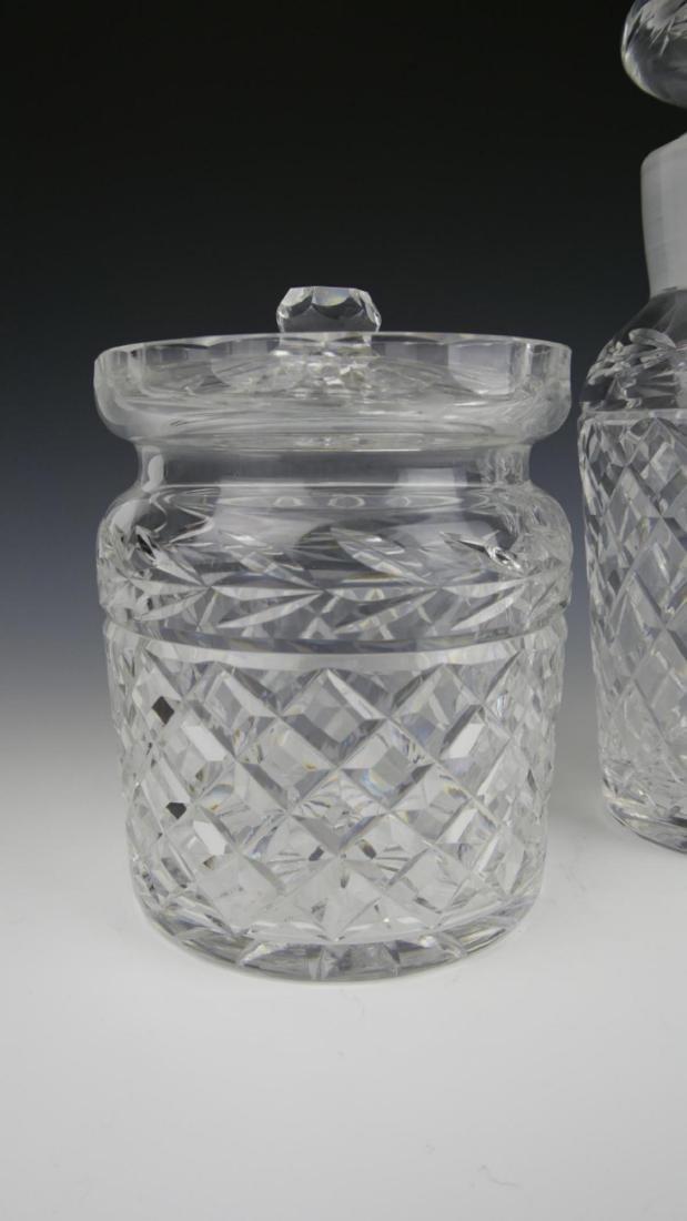 (3) WATERFORD CRYSTAL DECANTER, JAR, & VASE - 2