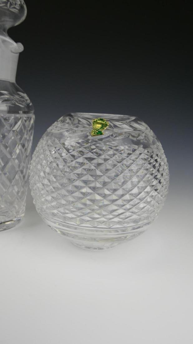 (3) WATERFORD CRYSTAL DECANTER, JAR, & VASE - 4