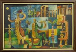 MARIO CARRENO (CUBAN 1913-1999) 1947 OIL ON BOARD