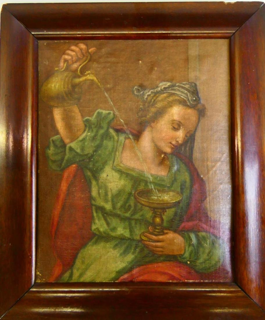 18th/19th CENTURY OIL PAINTING ON CANVAS FRAMED