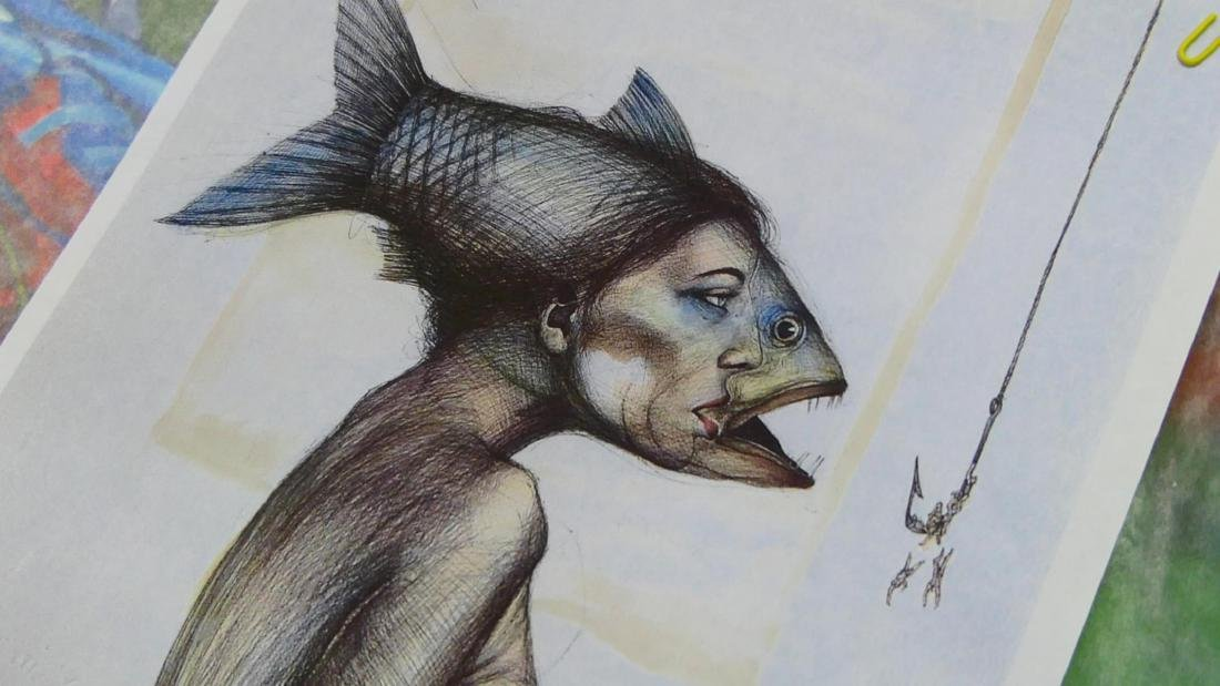 EUDALDO CRESPO (CUBAN,B.1958) WATERCOLOR / INK - 10