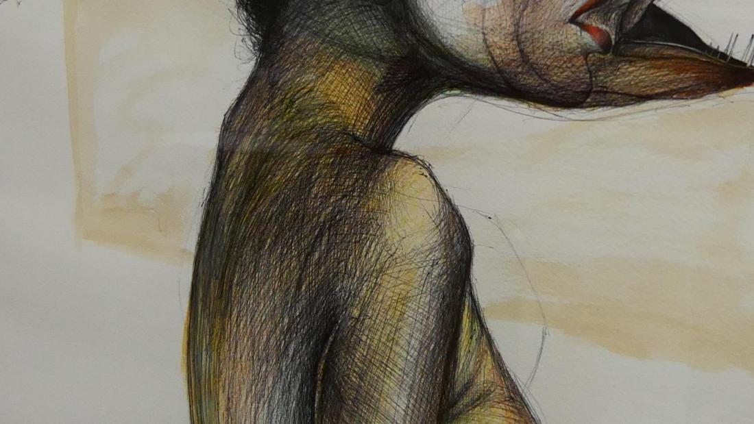 EUDALDO CRESPO (CUBAN,B.1958) WATERCOLOR / INK - 5