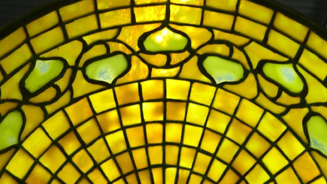 TIFFANY STUDIOS FLOOR LAMP w ACORN FAVRILLE SHADE - 2