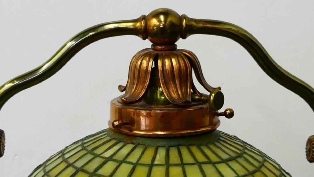 TIFFANY STUDIOS FLOOR LAMP w ACORN FAVRILLE SHADE - 9