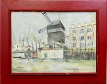 MAURICE UTRILLO (FRANCE 1883-1955) MONTMARTRE OIL
