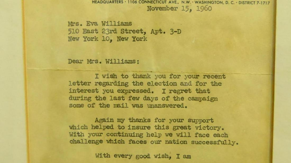 1960 JOHN F. KENNEDY SIGNED CAMPAIGN LETTER - 3