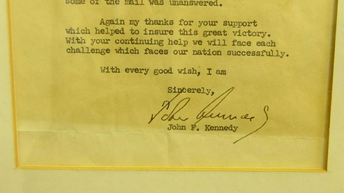 1960 JOHN F. KENNEDY SIGNED CAMPAIGN LETTER - 4