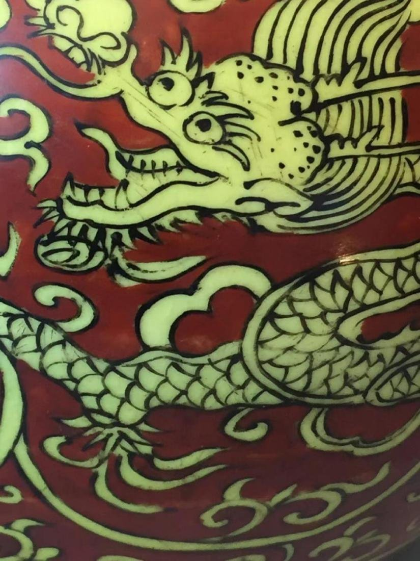 VERMEER & GRIGGS CHINESE IRON RED WUCAI COV'D JAR - 2
