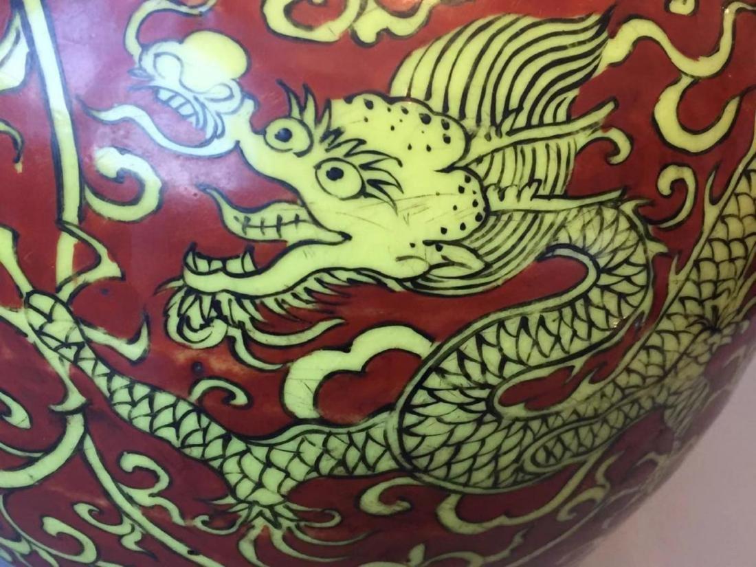 VERMEER & GRIGGS CHINESE IRON RED WUCAI COV'D JAR - 3