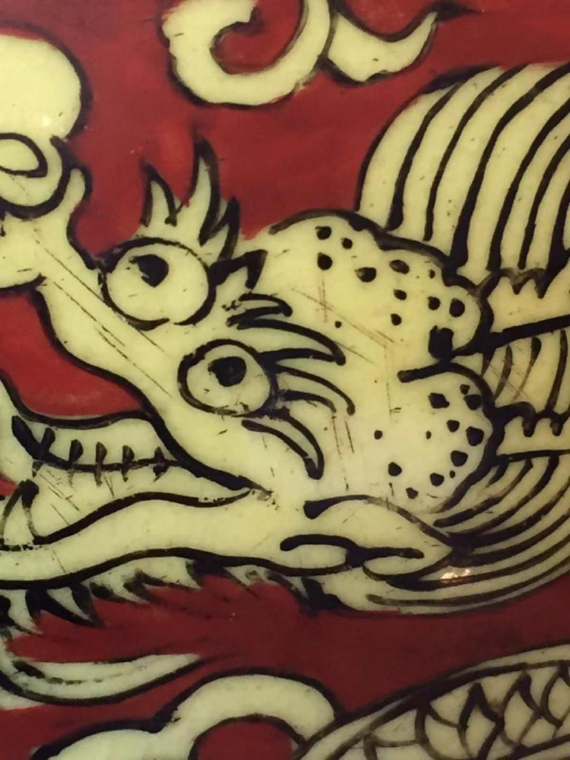 VERMEER & GRIGGS CHINESE IRON RED WUCAI COV'D JAR - 6