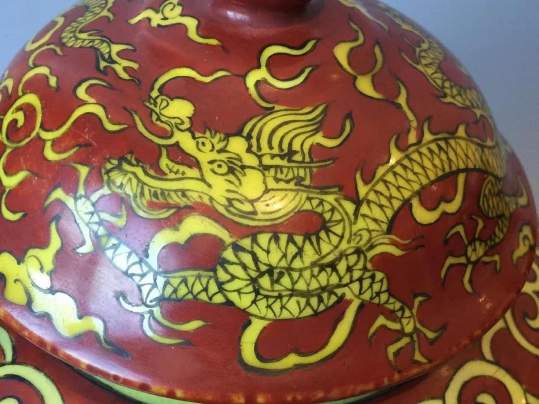 VERMEER & GRIGGS CHINESE IRON RED WUCAI COV'D JAR - 7