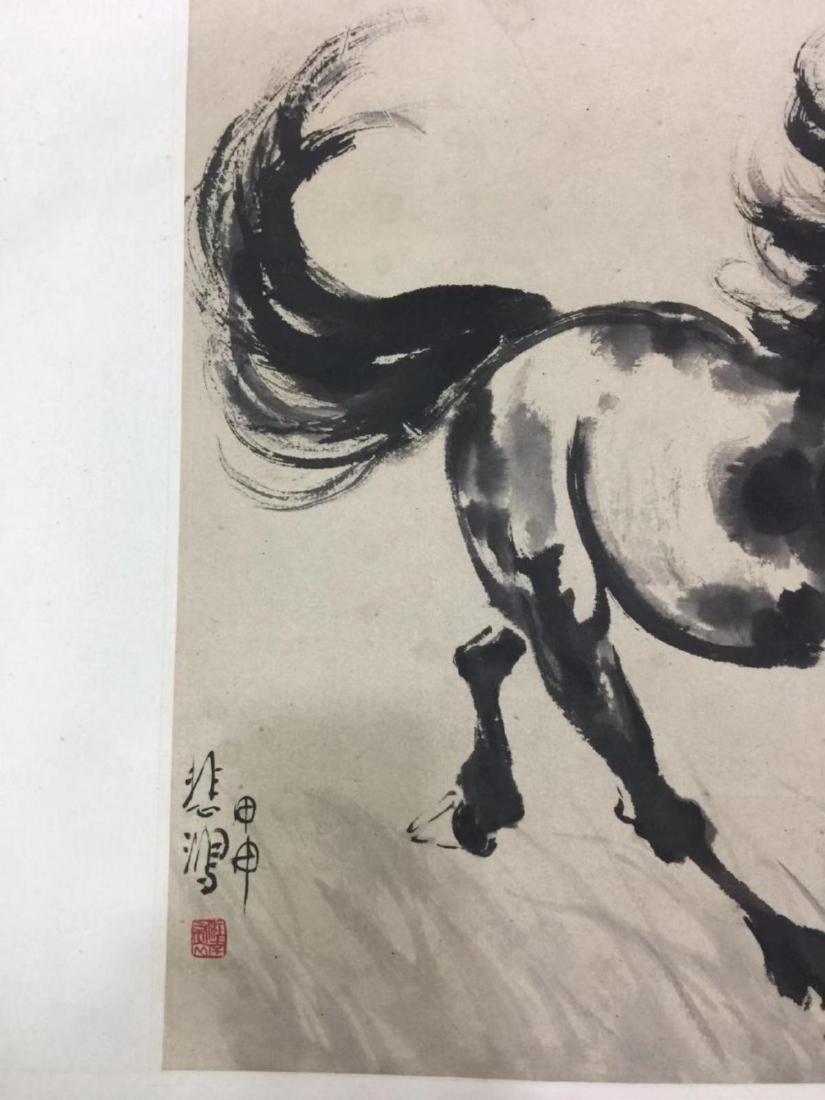 XU BEIHONG CHINESE WATERCOLOR PAINTING - 5
