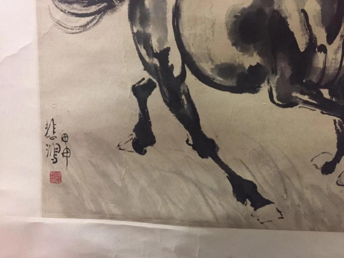 XU BEIHONG CHINESE WATERCOLOR PAINTING - 6