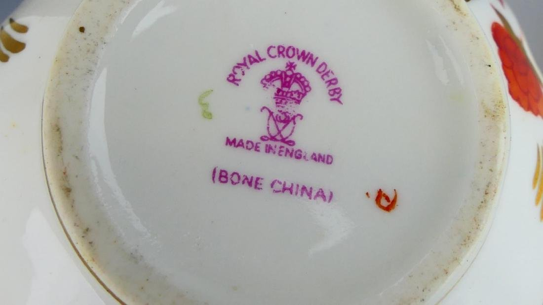 ROYAL CROWN DERBY FLORAL SUGAR BOWL & CREAMER SET - 2