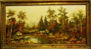 T. STADLER GERMAN LANDSCAPE OIL PAINTING ON CANVAS