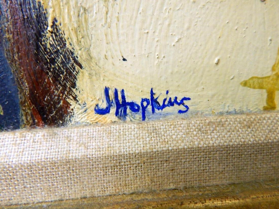 JOHN HOPKINS (USA 20th C) LANDSCAPE OIL ON CANVAS - 9