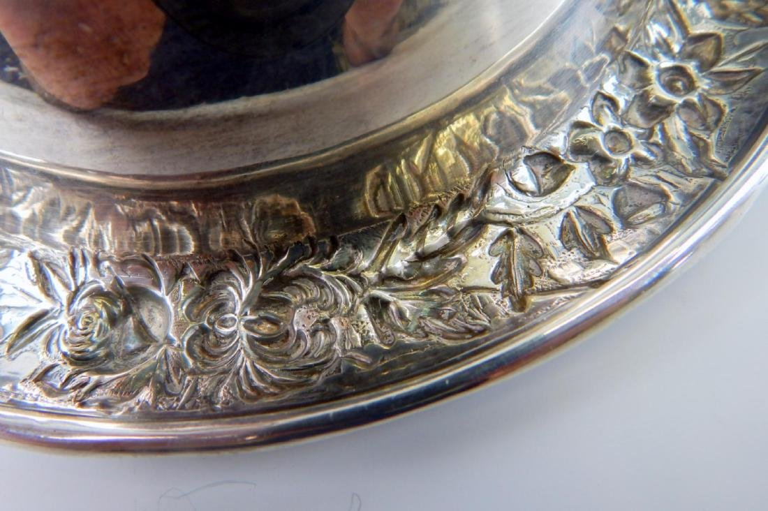 KIRK & SONS STERLING SILVER REPOUSSE FOOTED BOWL - 6