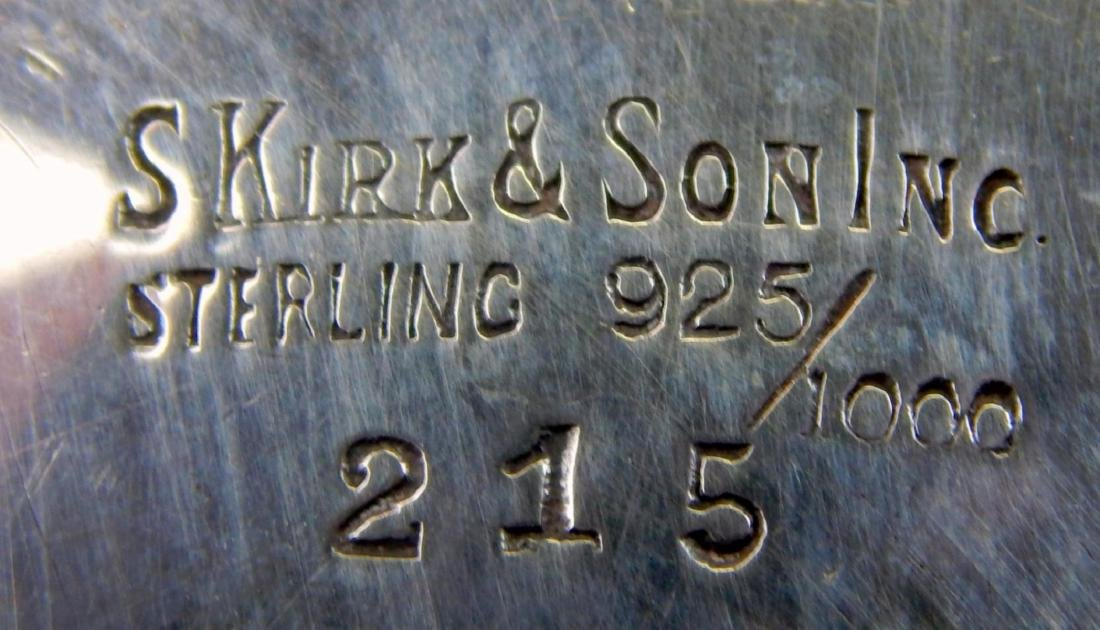KIRK & SONS STERLING SILVER REPOUSSE FOOTED BOWL - 8