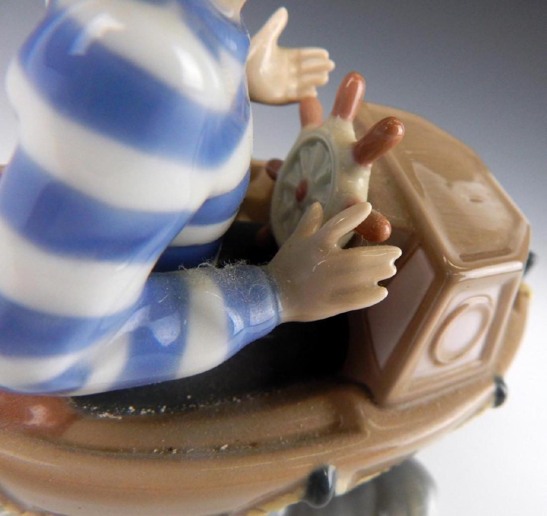 "LLADRO PORCLEAIN ""LITTLE SKIPPER"" FIGURINE 5936 - 6"