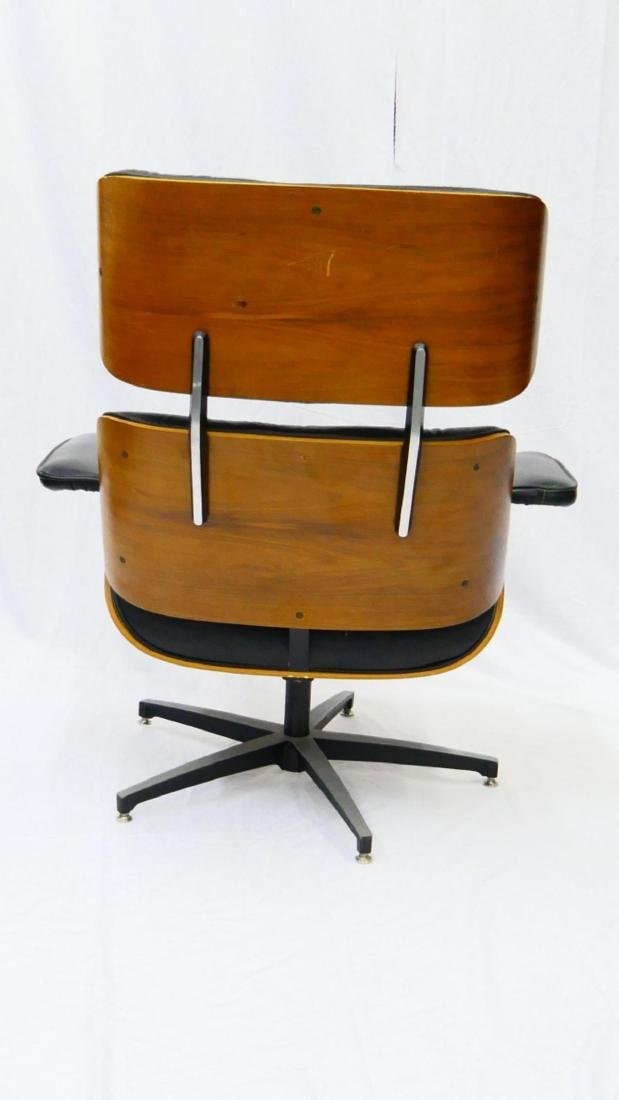 CHARLES & RAY EAMES STYLE LOUNGE CHAIR & OTTOMAN - 4
