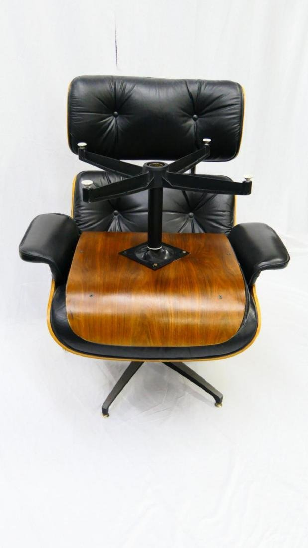 CHARLES & RAY EAMES STYLE LOUNGE CHAIR & OTTOMAN - 5