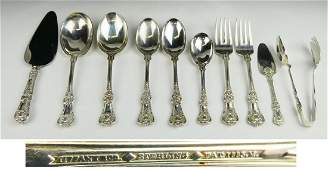 10 TIFFANY  CO ENGLISH KING STERLING SERVING Pcs