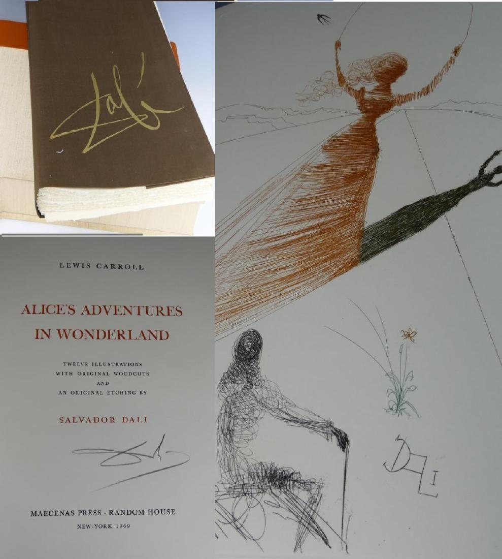 DALI ALICE'S ADVENTURES IN WONDERLAND SIGNED