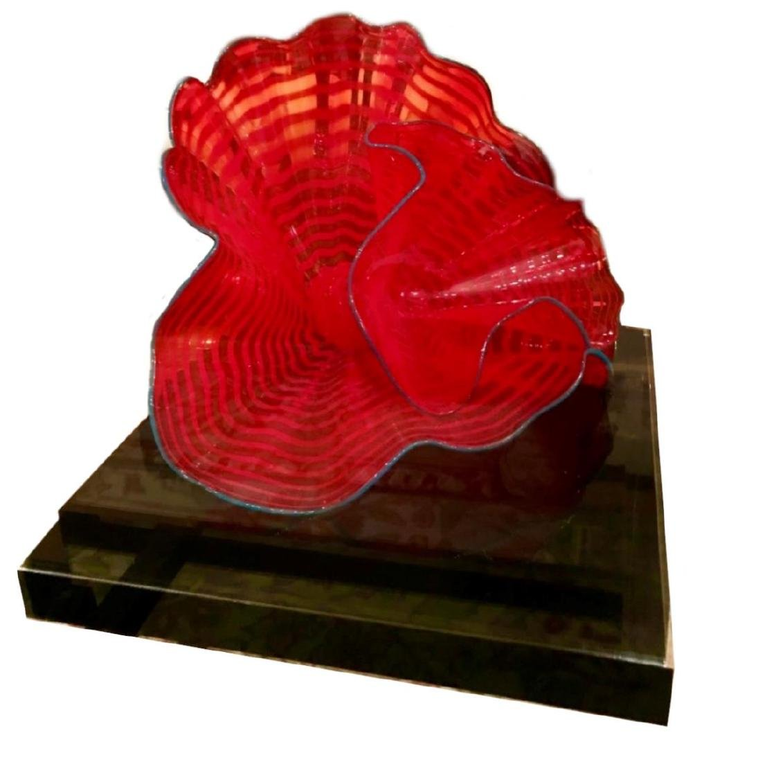 """DALE CHILHULY 2004 """"TANGO RED PERSIAN"""" SCULPTURE"""