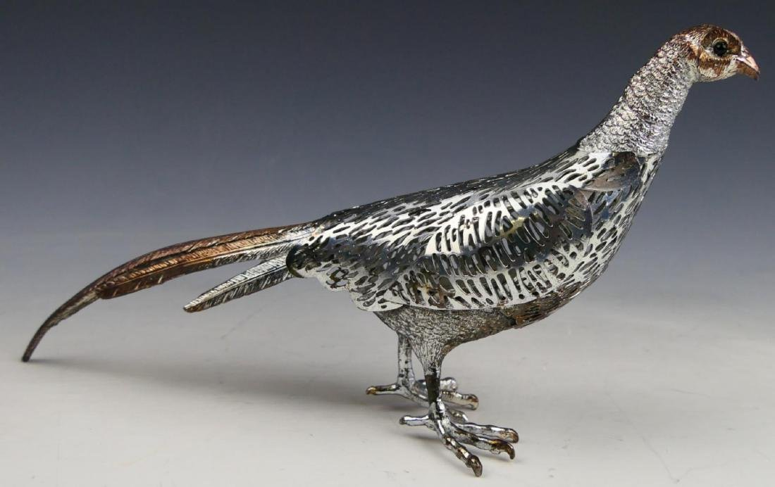 CHRISTOFLE  SILVER PLATED PIERCED BIRD SCULPTURE