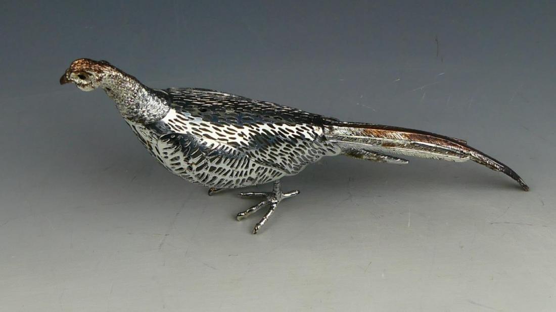 CHRISTOFLE  SILVER PLATED PIERCED BIRD SCULPTURE - 5