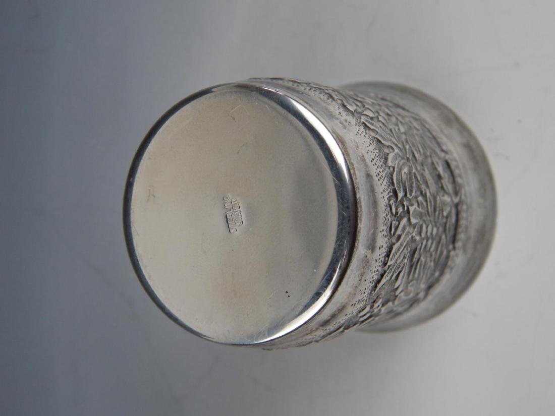 STERLING SILVER ORNATE RELIEF KIDDISH CUP - 3