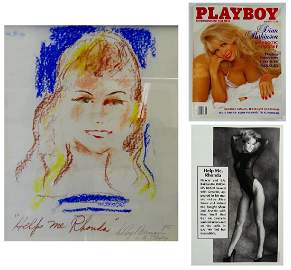 "LEROY NEIMAN (USA 1921-2012) ""HELP ME RHONDA"" DRAWING"