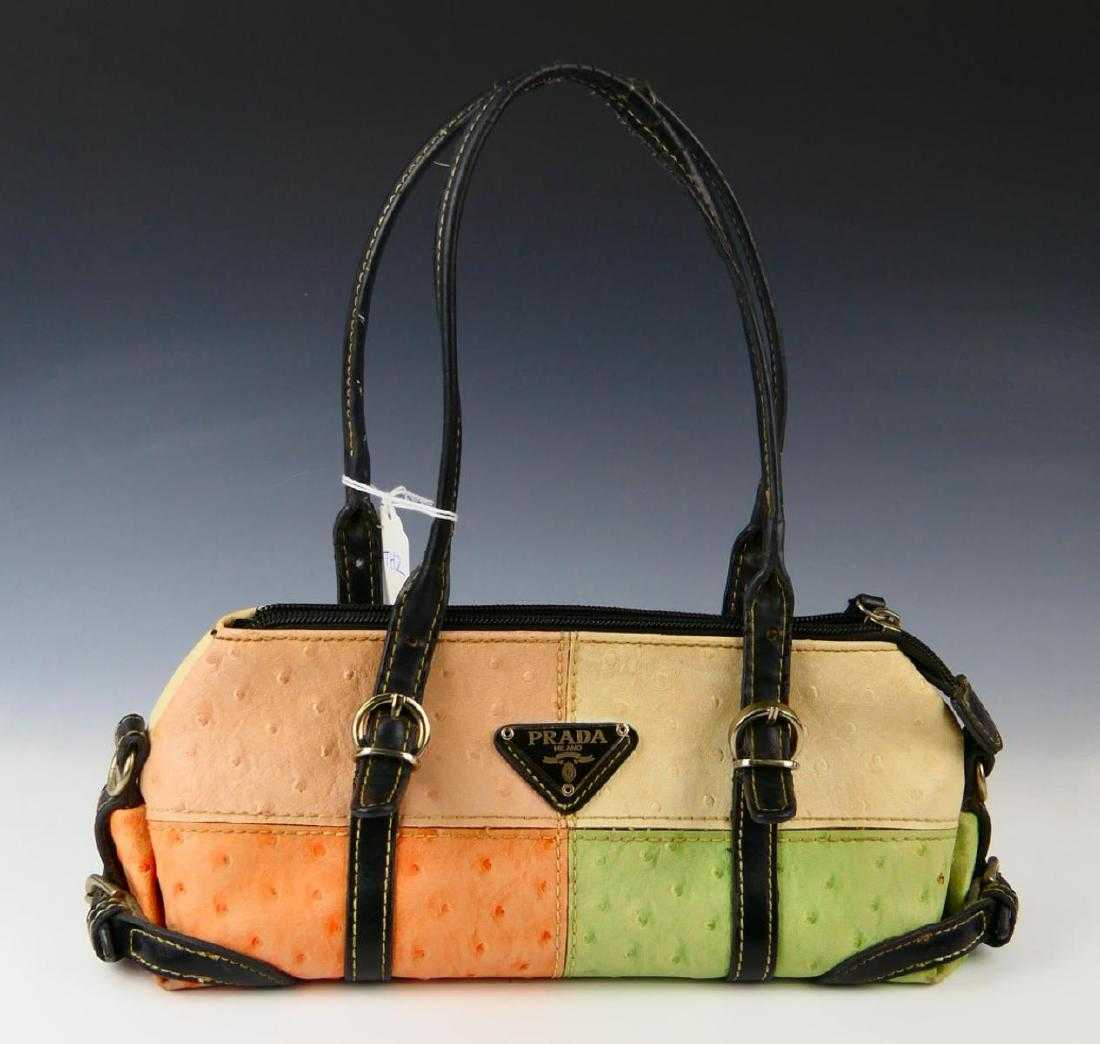 0eb316d1f689 PRADA MULTI-COLOR OSTRICH LEATHER PURSE