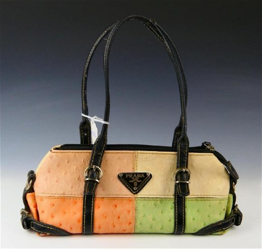 c24810e95ee PRADA MULTI-COLOR OSTRICH LEATHER PURSE. placeholder. See Sold Price
