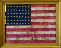 "JASPER JOHNS (USA b1930) ""FLAG"" MIXED MEDIA 1956"