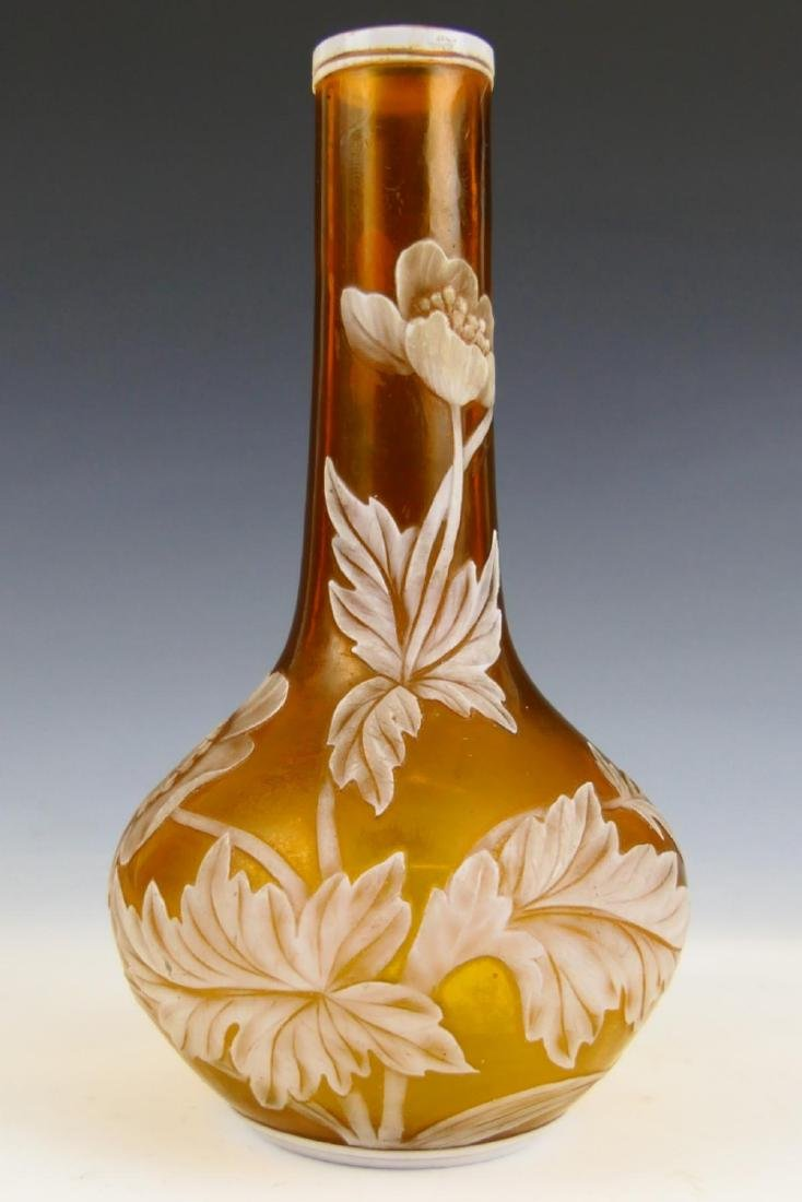 WEBB STYLE FROSTED CAMEO GLASS VASE