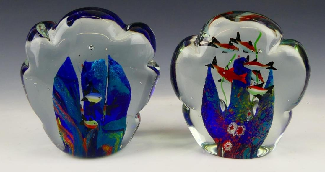 Pr MURANO ITALIAN ART GLASS FISH AQUARIUMS