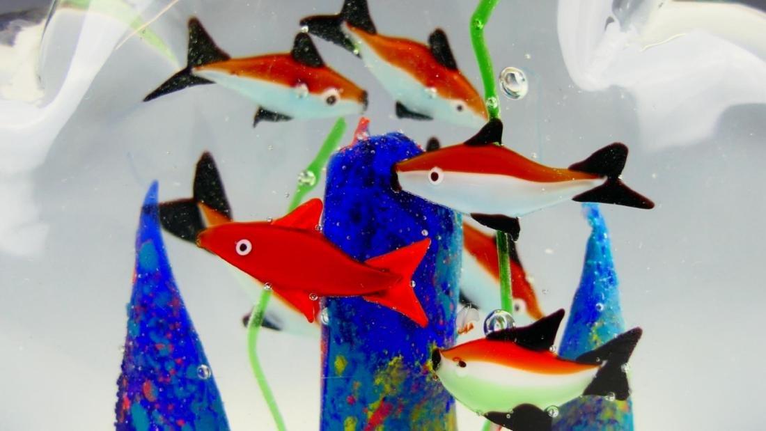 Pr MURANO ITALIAN ART GLASS FISH AQUARIUMS - 2