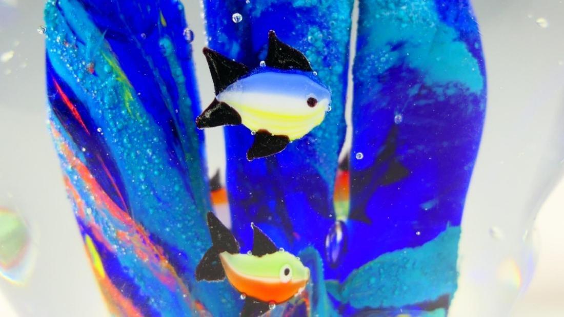 Pr MURANO ITALIAN ART GLASS FISH AQUARIUMS - 3