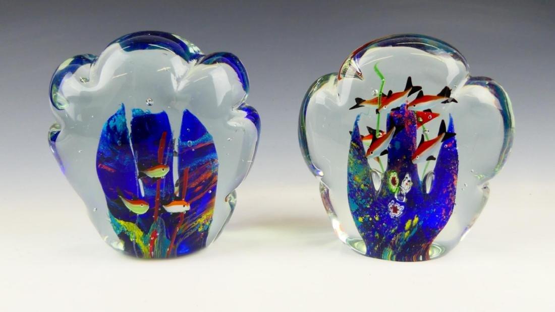 Pr MURANO ITALIAN ART GLASS FISH AQUARIUMS - 4