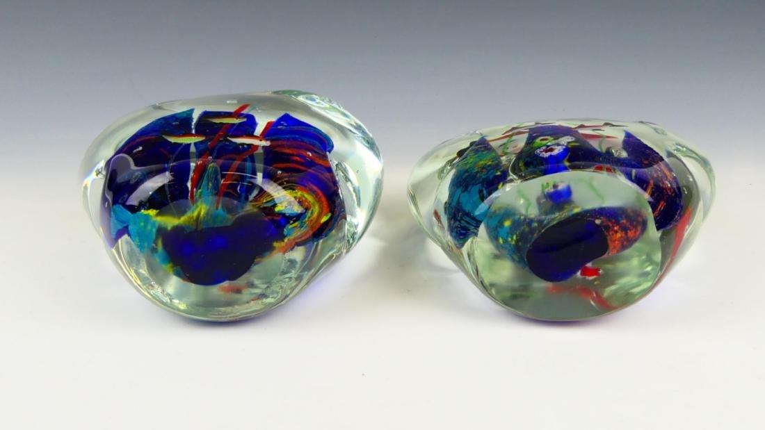 Pr MURANO ITALIAN ART GLASS FISH AQUARIUMS - 5