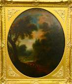 18th CENTURY FRENCH SCHOOL OIL PAINTING ON CANVAS