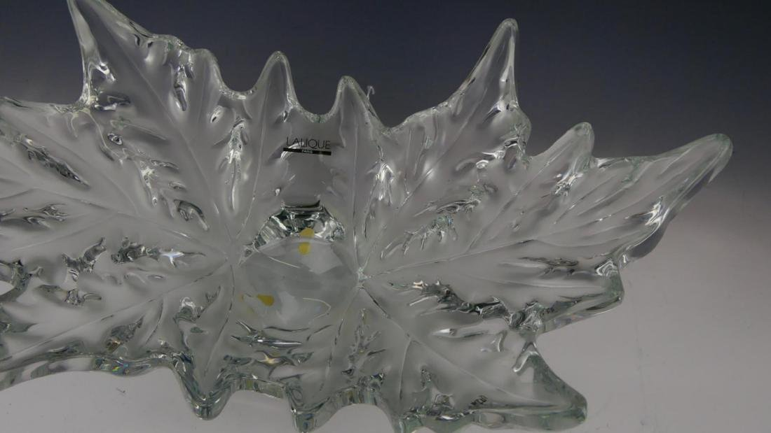 LALIQUE FRANCE CRYSTAL 'CHAMPS-ELYSEES' BOWL - 7