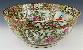 FINE 19TH.C CHINESE ROSE MEDALLION LARGE BOWL